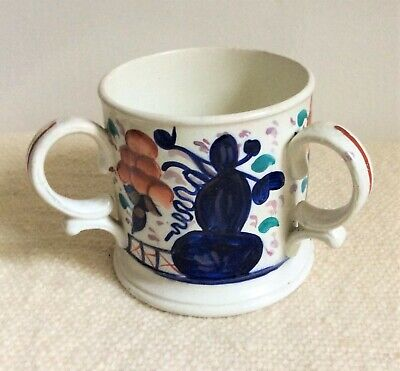 Victorian Gaudy Welsh Three Handled Loving Cup • 72£