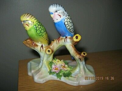 Rare Royal Doulton Budgerigars On Branch (unlisted) ** Must See ** • 155£