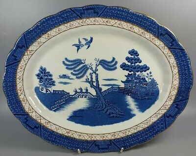 Booths Real Old Willow A8025 Oval Serving Platter / Meat Plate 35cm X 27.5cm • 19.99£