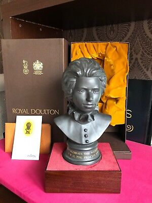 Boxed Royal Doulton Bust Princess Anne Wedding 1973 Certificate 626 / 750 Stand • 44.99£
