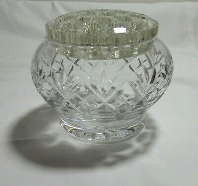 Thomas Webb & Corbett Lead Crystal Rose Bowl With Glass Frog. Signed • 25.25£