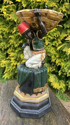 Beautiful Vinrage Foreign Man Figurine Carrying Basket On Stand *  • 59.99£