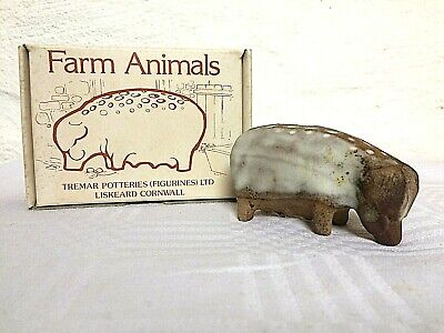 Vintage Boxed Collectable PIG Model Ornament Paperweight Tremar Studio Pottery  • 20£