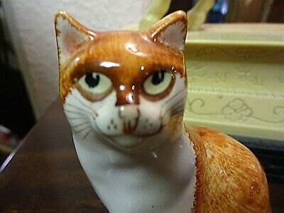 Hand Painted Babbacombe Ginger Cat By Philip Laureston B • 7.50£