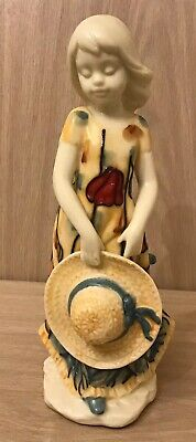 Old Tupton Ware Girl In Poppy Dress With Sun Hat, Boxed • 25£