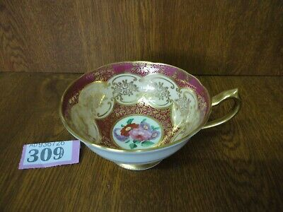 Vintage Paragon Queen Mary - Large Red, Floral & Gilt Tea Cup • 19.95£