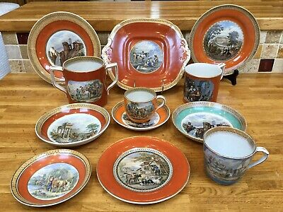 Antique Prattware Collection Loving Cup Tankard Cake Plate Cup And Saucer • 70£