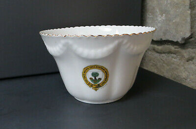 Antique City Of Wells Crested Large Sugar/Slop  Bowl- Arcadian/Charles Ford • 12.99£