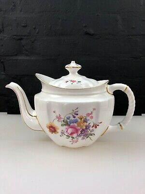 Royal Crown Derby Posies Large Teapot Red Stamp Dated XXVIII 1965 Crazing • 49.99£