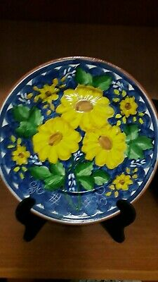 Portuguese Hand Made And Hand Painted Dish • 20£