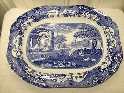 Spode Italian Blue Meat Platter 14 Inches  • 19.99£