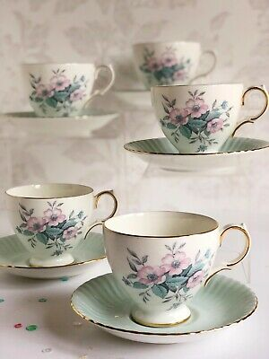 Vintage Tea Cup & Saucer Pattern 8378 By Colclough Shabby Chic Pastel Bone China • 6.99£