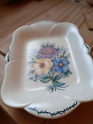 Vintage Axe Vale Pottery White/floral Plate/platter  • 5.50£