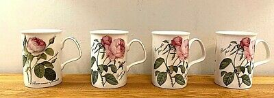 Fine Bone China Cups - Redouté Roses, Roy Kirkham,  Made In England 1996 • 14.99£