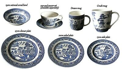 Churchill Blue Willow Pattern Tableware, Wide Range Of Products To Choose From • 4.25£