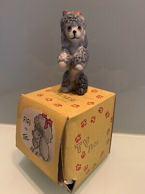 Vintage Wade TV Pets Series Fifi The Poodle Dog 1959-1965 In Original RARE BOX • 12.99£