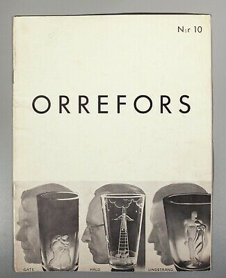 Orrefors No 10 Catalogue 1935 Works By Hald Gate And Lindstrad • 98£