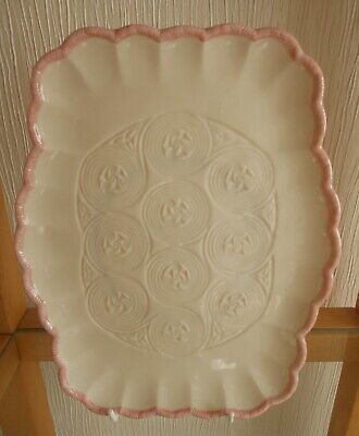 Irish Papian Donegal China Tray With Cream And Pink Edging. • 12£