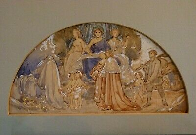 Unique! A Doulton Lambeth Water Colour By William Rowe -Fascia Or Tile Panel. • 295£