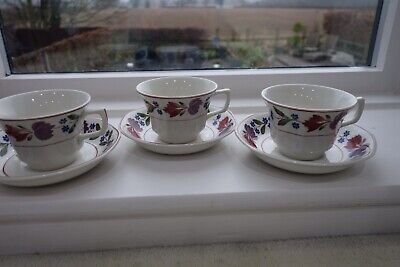 Adams - OLD COLONIAL -  Ironstone Cups & Saucers X 3 • 9.99£