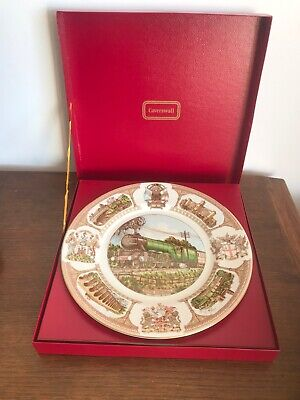 Caverswall Bone China FLYING SCOTSMAN Plate - 1978 - 50th Anniversary - Boxed • 12£
