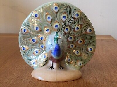 HEREND Hungary Hand Painted Peacock Porcelain Figurine. Marked 50?? • 90£
