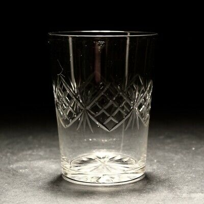 19th Century Edwardian Whisky Glass Tumbller C1910 • 10£