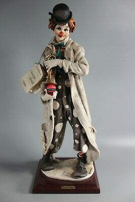 Rare Capodimonte Clown With Trumpet By Artist Giuseppe Armani Large 45cm Tall  • 200£
