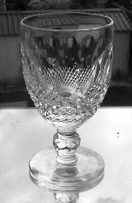 WATERFORD Crystal - COLLEEN  Claret Wine Glass / Glasses - 4 3/4  Tall (signed ) • 25£