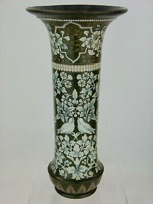 An Extremely Rare Doulton Lambeth Songbird Decorated Vase By Eliza Simmance. • 225£