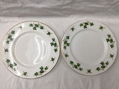 Colclough  Ivy Leaf bone China Pair Of Dinner Plates, Made In England • 15£