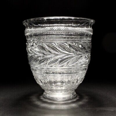 20th C Baccarat Musee Des Cristalleries 1821-1840 Reproduction Crystal Vase • 350£