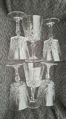 Six Lead Crystal Tapered Square Bottom Wine Glasses • 4.70£