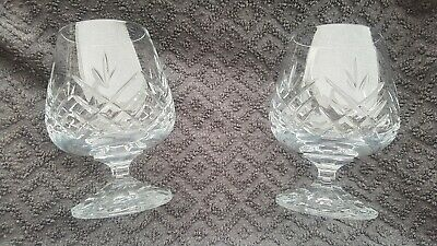 Pair Of Lead Crystal Brandy / Snifter / Goblet Drinking Glasses • 2.95£