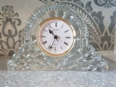 A Stunning Large Size Waterford Lead Crystal Mantle Clock   • 34.99£