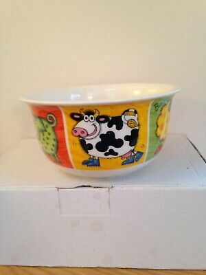 Dunoon  Funky Farm  Stoneware Bowl Used Very Good Condition  • 6.99£