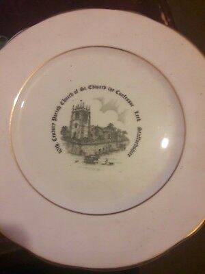 Commemorative Plate Parish Church Of St.Edward The Confessor Leek • 15£