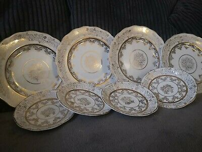 Milton Pottery 4 Tea Plates 4 Saucers Excellent For Beginning Collectors • 2.99£