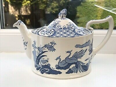 Old Chelsea Furnivals England Blue & White Old Teapot • 30£