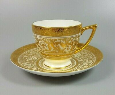 Minton Porcelain Ball (ivory) H5161 Coffee Cup And Saucer (perfect) • 49.99£
