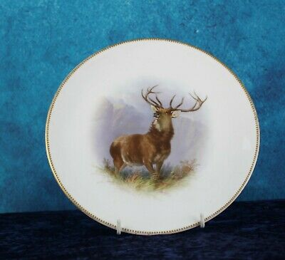 Minton Hand Painted Stag Plate Signed H P Mitchell • 4.99£