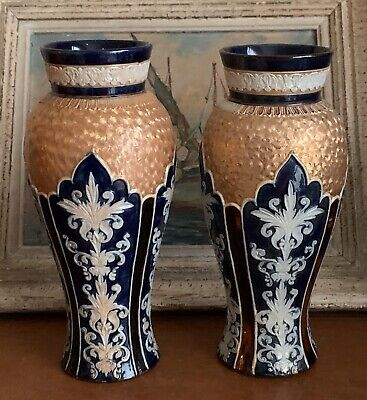 Pair Of Absolutely Stunning Vintage Royal Doulton Vases  • 275£