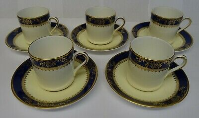 Set Of 5 Royal Grafton Viceroy Coffee Cups & Saucers. • 14.99£