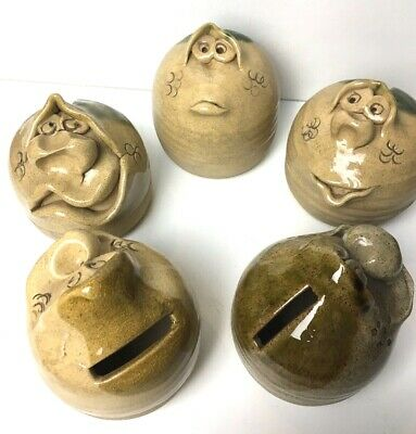 Pretty Ugly Pottery Money Pot Wales Piggy Bank Quirky Save Gift Present Funny • 8.99£