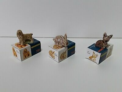 Wade Whimsies Collection Of 3 Animals With Original Boxes. Great Condition. • 5£