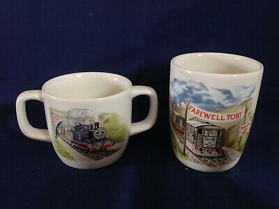 Wedgwood Thomas The Tank Engine & Friends Farewell Toby Beaker & Two Handled Cup • 10£