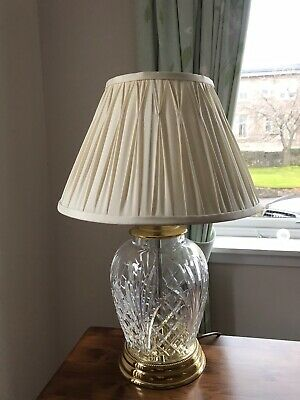 Waterford Crystal Lamp With Shade AVERY TABLE LAMP SHADED 240v • 75£