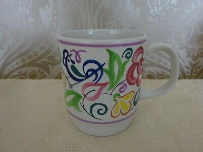 Vintage Retro Poole Pottery Hand Painted Signed Floral Mug 9.5cm Tall • 6.50£