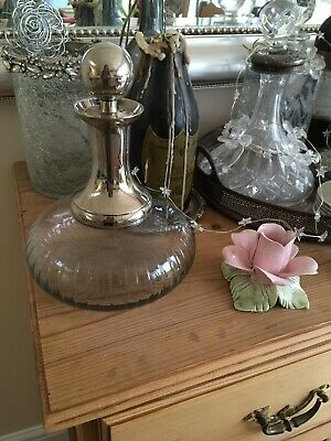 Glass And Silver Coloured Decanter • 12£