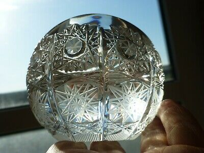 Waterford Cut Crystal 3d Star Design Round Hollow Open Topped Paperweight • 9£